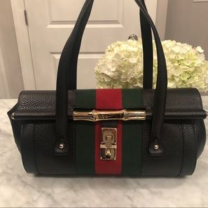 Authentic Gucci Bamboo Bullet Satchel